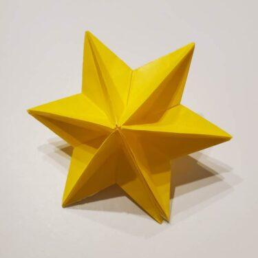 折り紙の星 立体的で難しい6枚でつくる折り方作り方☆多面体で綺麗