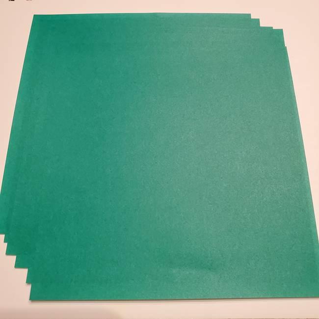 折り紙の笹の葉リースの作り方★用意するもの
