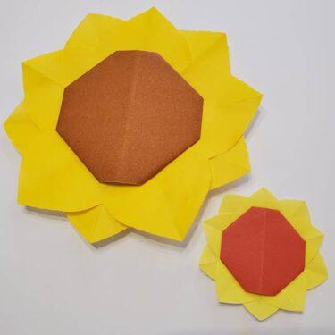 折り紙 ひまわりのメダルとコースター☆かわいい夏小物の折り方作り方