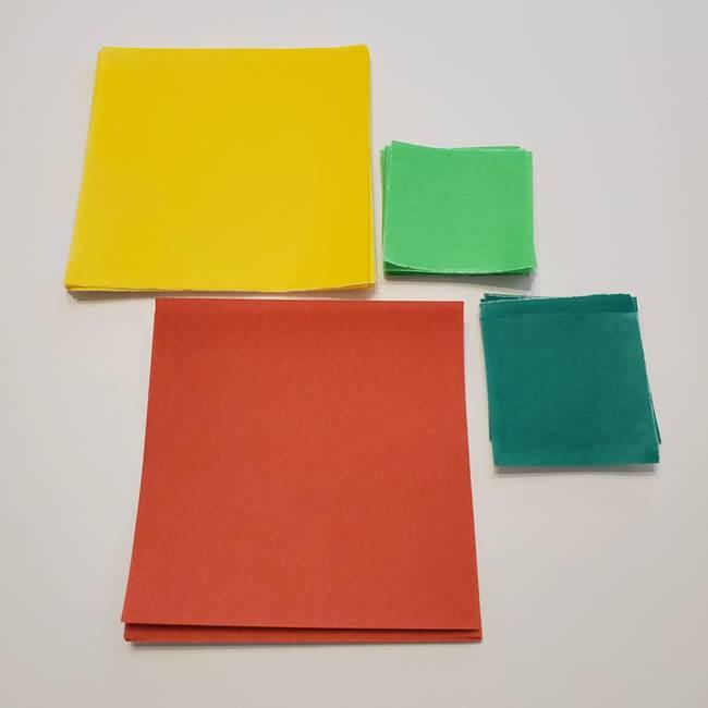 折り紙 ひまわりのリースは簡単♪用意するものは?(2)