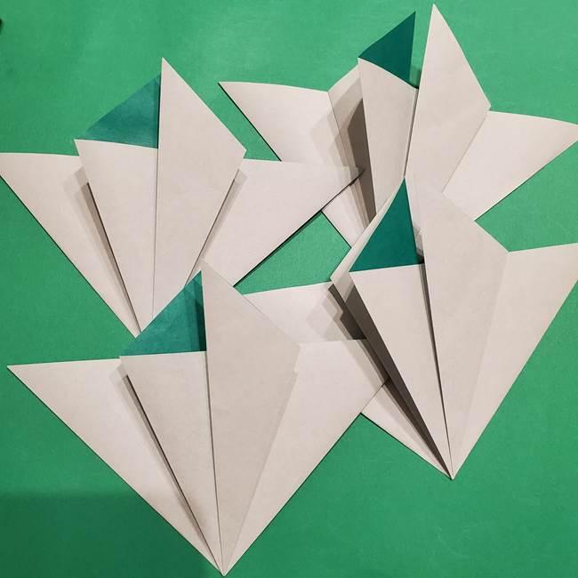 折り紙 笹の葉リースの作り方②Bユニットの折り方(1)
