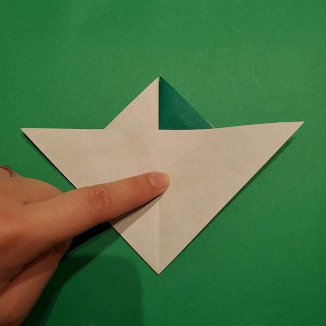 折り紙 笹の葉リースの作り方②Bユニットの折り方(2)