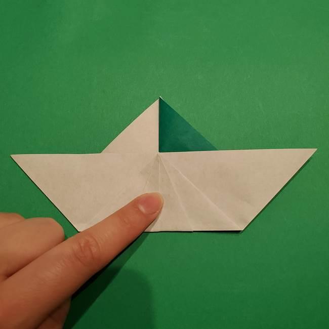 折り紙 笹の葉リースの作り方②Bユニットの折り方(3)