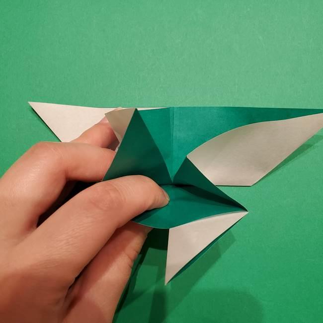 折り紙 笹の葉リースの作り方②Bユニットの折り方(5)