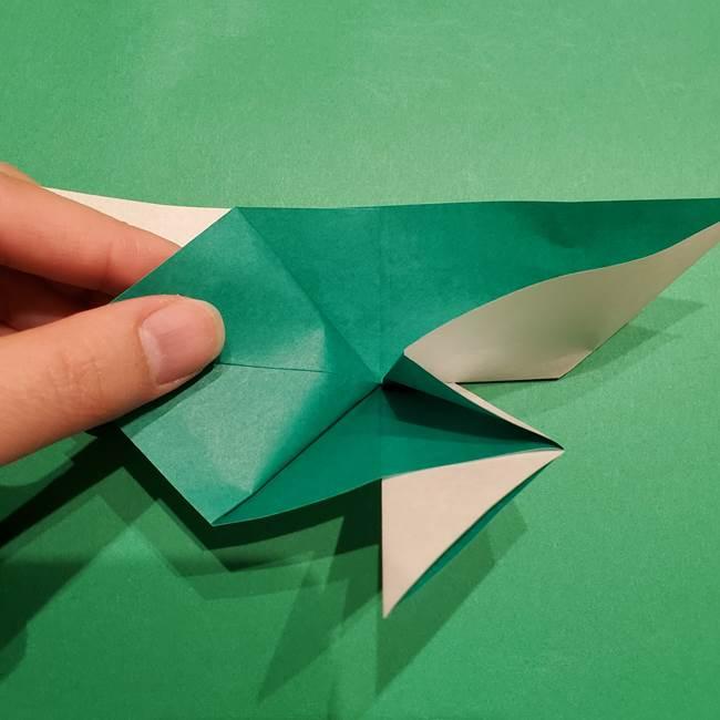折り紙 笹の葉リースの作り方②Bユニットの折り方(6)