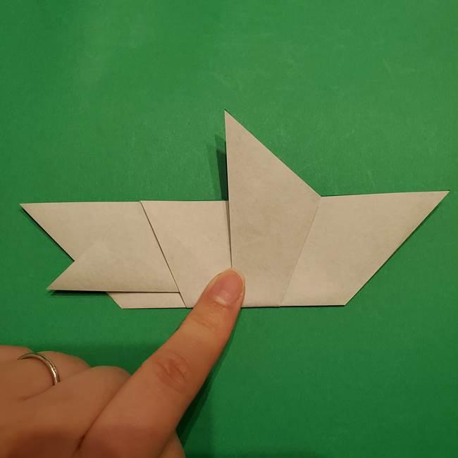 折り紙 笹の葉リースの作り方②Bユニットの折り方(7)