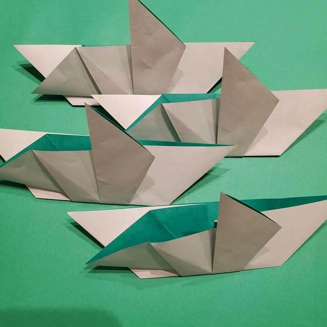 折り紙 笹の葉リースの作り方②Bユニットの折り方(8)