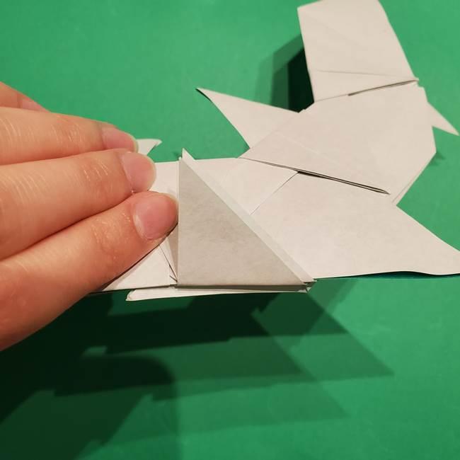 折り紙 笹の葉リースの作り方③組み合わせて完成(23)