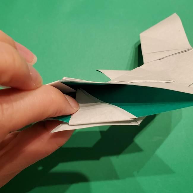 折り紙 笹の葉リースの作り方③組み合わせて完成(24)