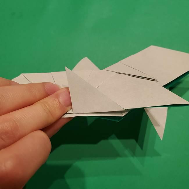 折り紙 笹の葉リースの作り方③組み合わせて完成(8)