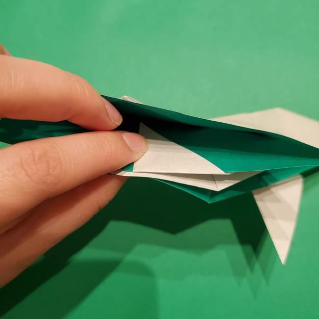 折り紙 笹の葉リースの作り方③組み合わせて完成(9)