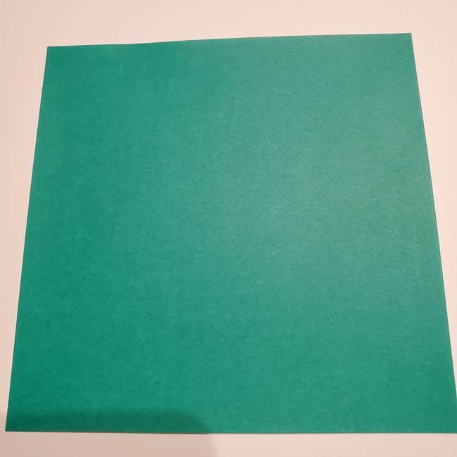 折り紙 笹の葉リース作り方①Aユニットの折り方(1)
