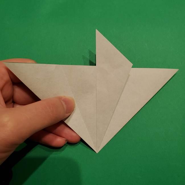 折り紙 笹の葉リース作り方①Aユニットの折り方(13)