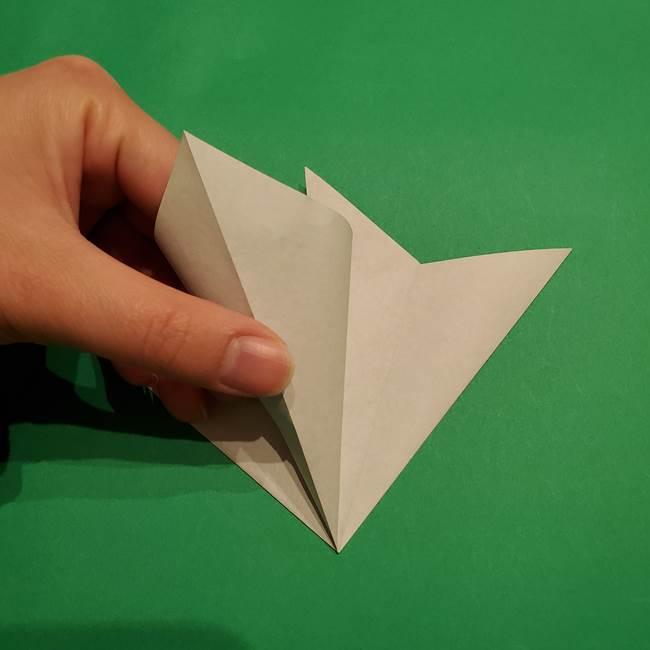 折り紙 笹の葉リース作り方①Aユニットの折り方(14)
