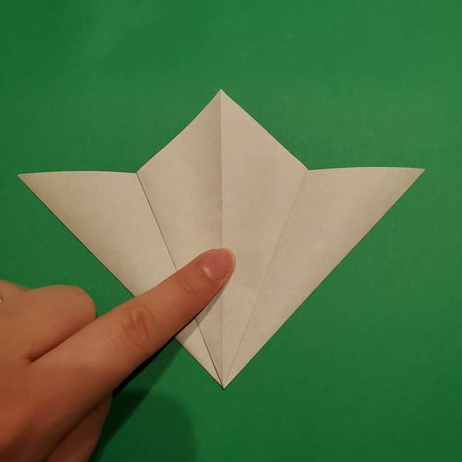折り紙 笹の葉リース作り方①Aユニットの折り方(15)