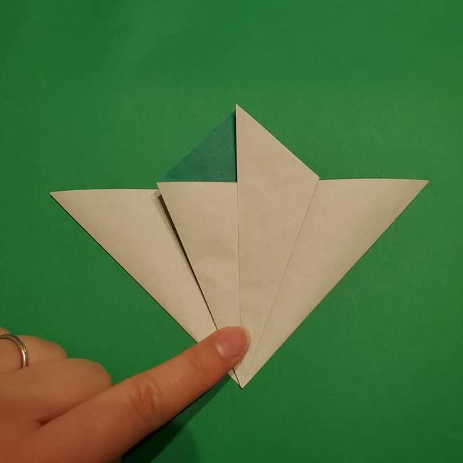 折り紙 笹の葉リース作り方①Aユニットの折り方(17)
