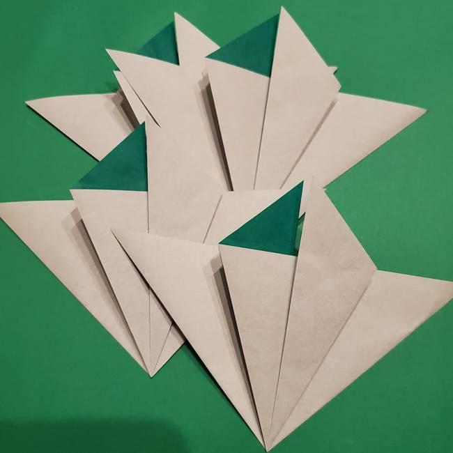 折り紙 笹の葉リース作り方①Aユニットの折り方(18)