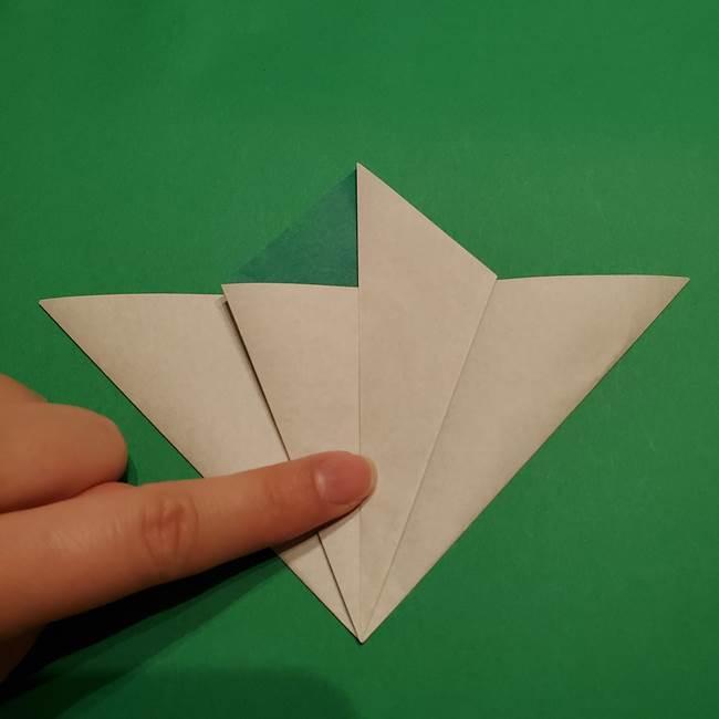 折り紙 笹の葉リース作り方①Aユニットの折り方(19)