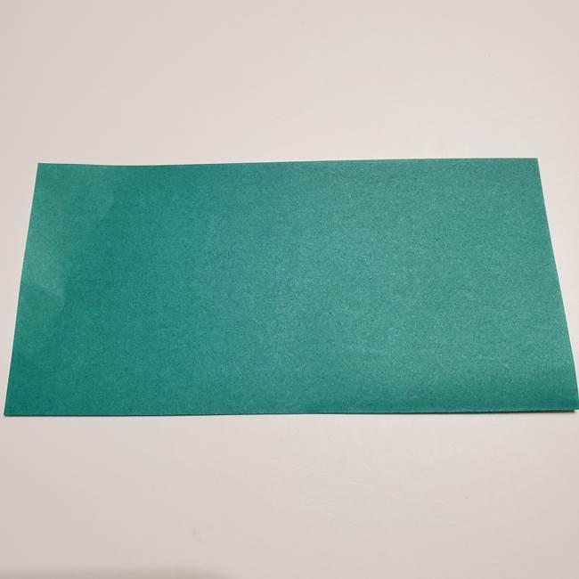 折り紙 笹の葉リース作り方①Aユニットの折り方(2)