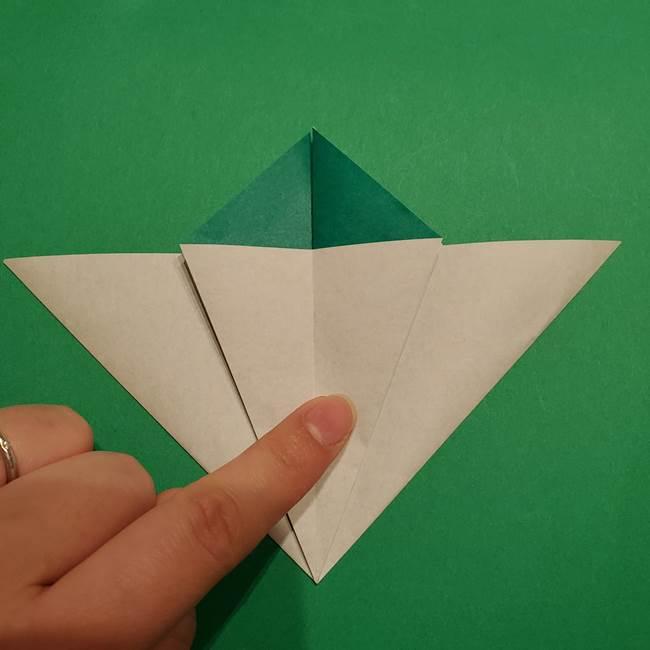 折り紙 笹の葉リース作り方①Aユニットの折り方(22)