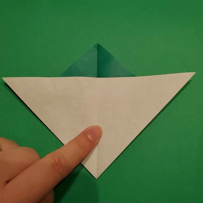 折り紙 笹の葉リース作り方①Aユニットの折り方(23)