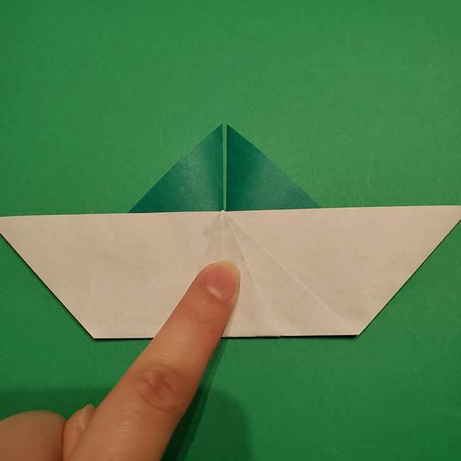 折り紙 笹の葉リース作り方①Aユニットの折り方(24)