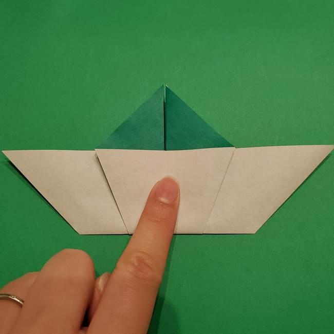 折り紙 笹の葉リース作り方①Aユニットの折り方(25)