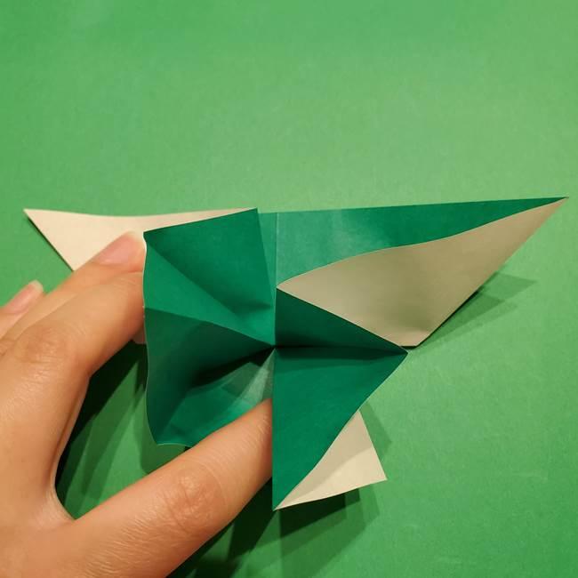 折り紙 笹の葉リース作り方①Aユニットの折り方(26)