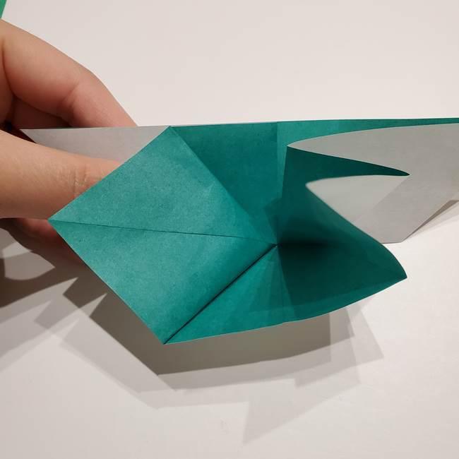 折り紙 笹の葉リース作り方①Aユニットの折り方(27)