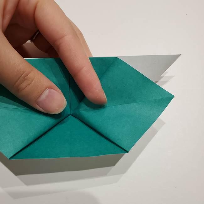 折り紙 笹の葉リース作り方①Aユニットの折り方(28)