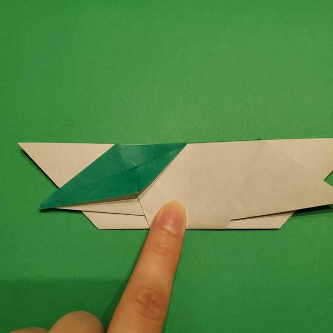 折り紙 笹の葉リース作り方①Aユニットの折り方(31)