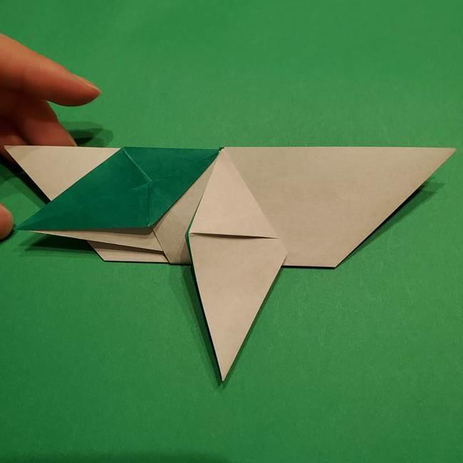 折り紙 笹の葉リース作り方①Aユニットの折り方(32)