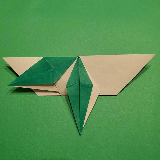 折り紙 笹の葉リース作り方①Aユニットの折り方(33)