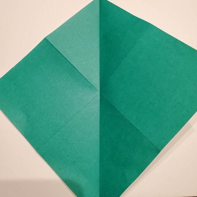 折り紙 笹の葉リース作り方①Aユニットの折り方(7)