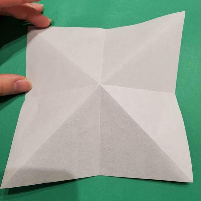 折り紙 笹の葉リース作り方①Aユニットの折り方(9)