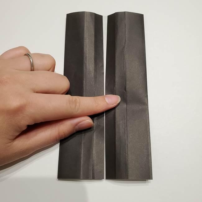 提灯の折り紙(平面)の簡単な折り方作り方①張輪(10)