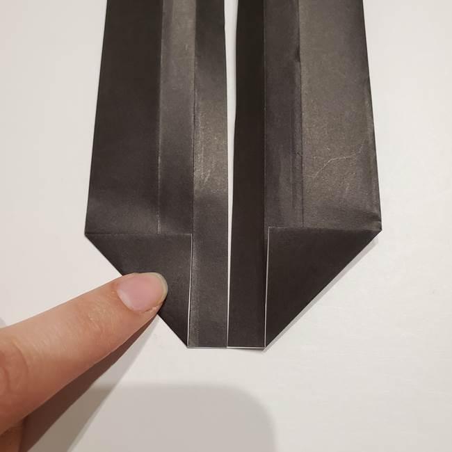 提灯の折り紙(平面)の簡単な折り方作り方①張輪(11)