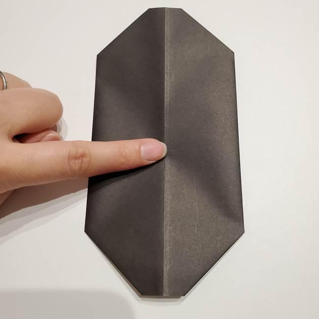 提灯の折り紙(平面)の簡単な折り方作り方①張輪(13)