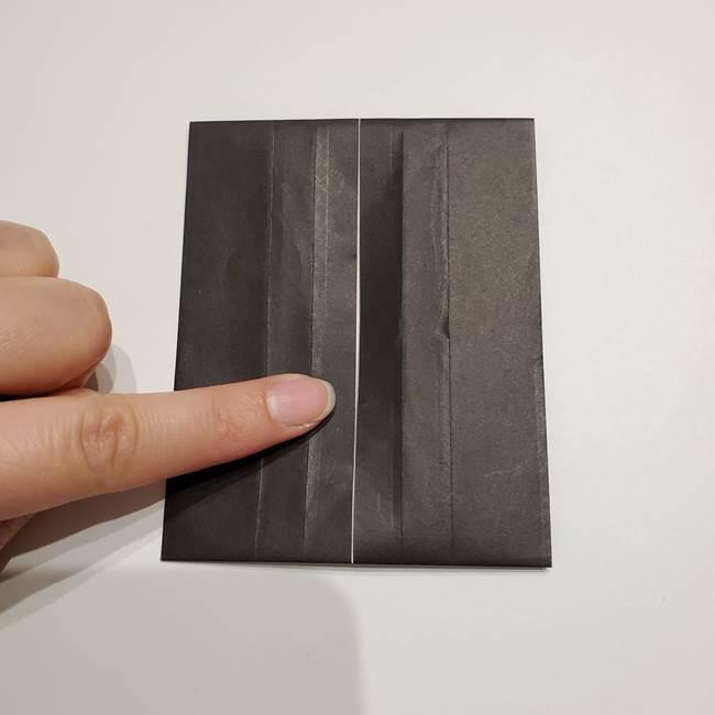 提灯の折り紙(平面)の簡単な折り方作り方①張輪(15)