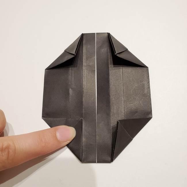 提灯の折り紙(平面)の簡単な折り方作り方①張輪(16)