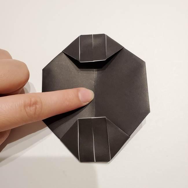 提灯の折り紙(平面)の簡単な折り方作り方①張輪(17)