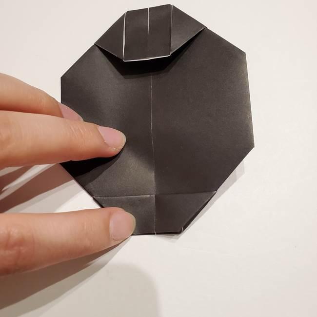 提灯の折り紙(平面)の簡単な折り方作り方①張輪(18)