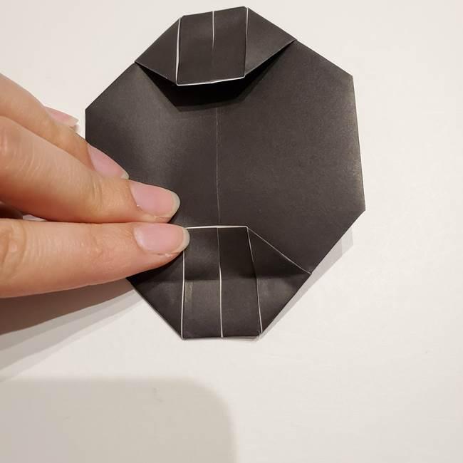 提灯の折り紙(平面)の簡単な折り方作り方①張輪(19)