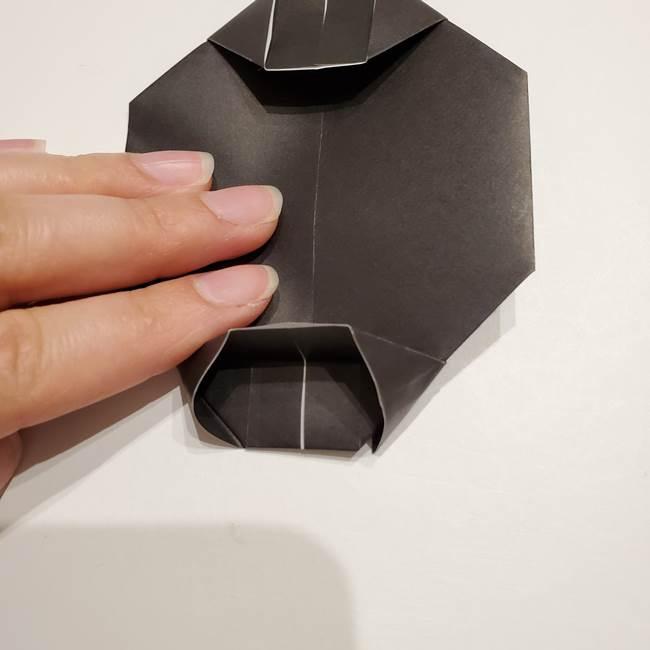 提灯の折り紙(平面)の簡単な折り方作り方①張輪(20)