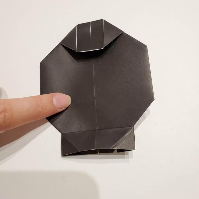 提灯の折り紙(平面)の簡単な折り方作り方①張輪(21)