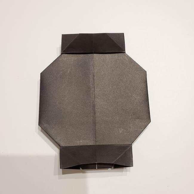 提灯の折り紙(平面)の簡単な折り方作り方①張輪(22)