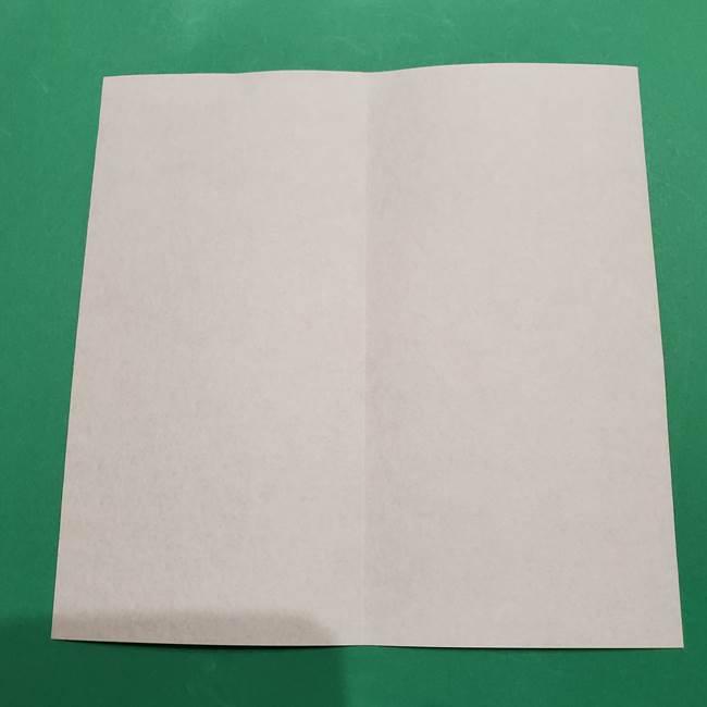 提灯の折り紙(平面)の簡単な折り方作り方①張輪(3)