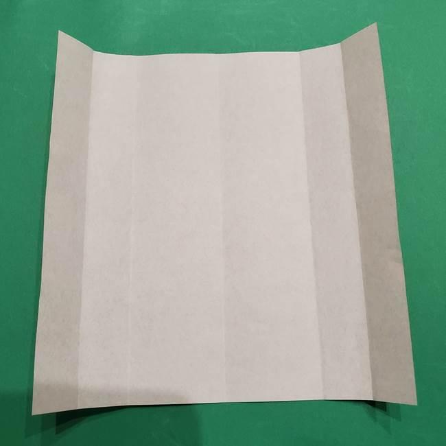 提灯の折り紙(平面)の簡単な折り方作り方①張輪(7)