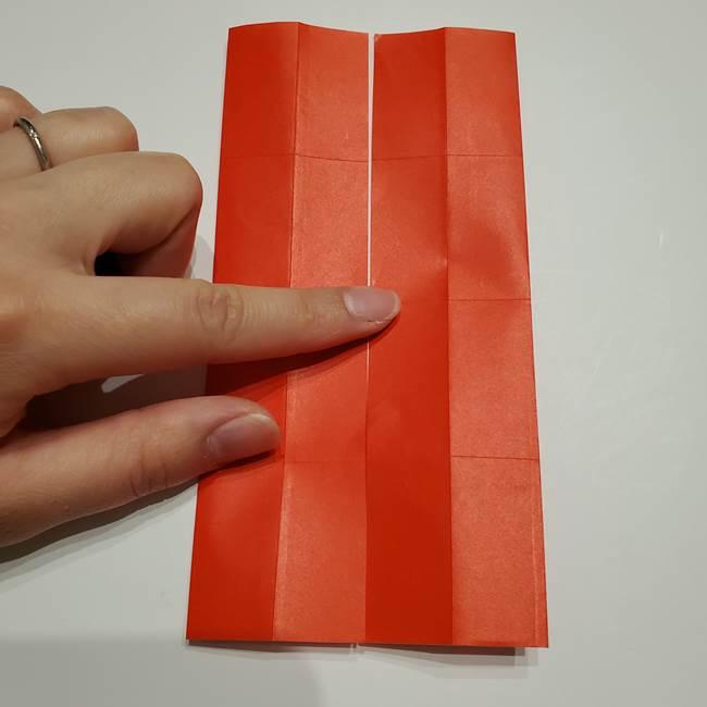 提灯の折り紙(平面)の簡単な折り方作り方②火袋(13)