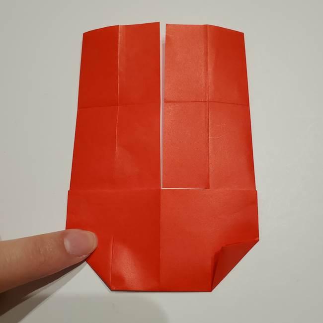 提灯の折り紙(平面)の簡単な折り方作り方②火袋(15)